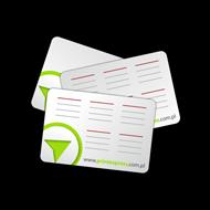 Druk kalendarzyków listkowych, business card