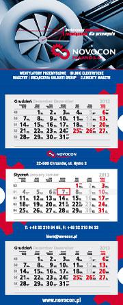 Wzory kalendarzy trójdzielnych